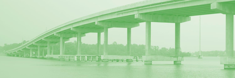 interstate bridge over water